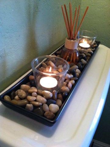 adornos decorativos para sala velas