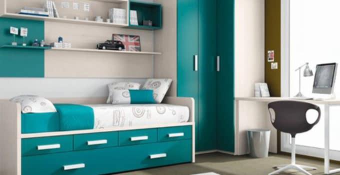 Dormitorios juveniles nio en mueble juvenil encontramos estupendas ideas como esta que nos - Dormitorios juveniles espacios pequenos ...