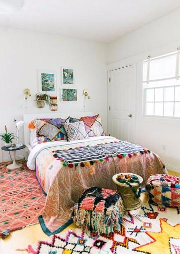 colores para dormitorios de mujer hippie