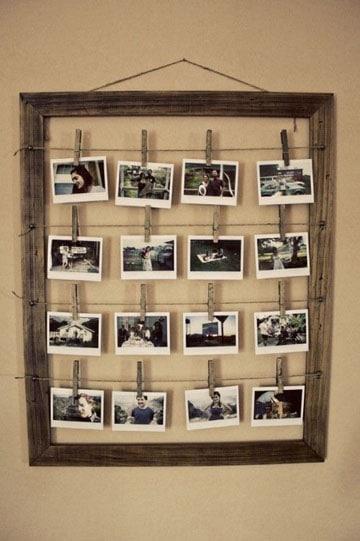 como decorar paredes con fotos con un marco