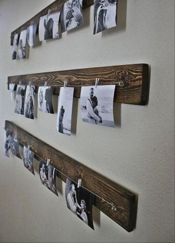 como decorar paredes con fotos familiares