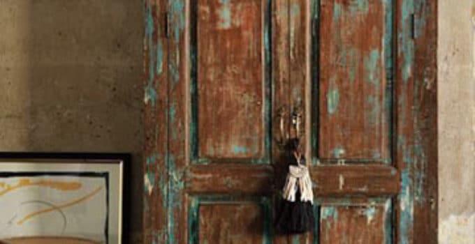 Madera pintada blanco envejecido excellent with madera pintada blanco envejecido beautiful - Como pintar un mueble de madera en blanco ...