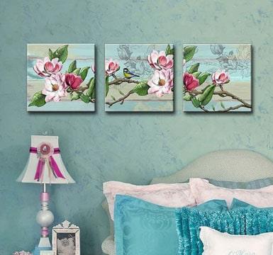 cuadros tripticos para dormitorios chic
