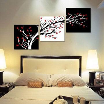 Sofisticados cuadros tripticos para dormitorios como for Cuadros de manualidades modernos