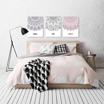 Sofisticados cuadros tripticos para dormitorios como - Cuadros para habitacion ...