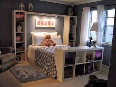 La solución a esos cuartos pequeños para jovenes | Como decorar mi ...