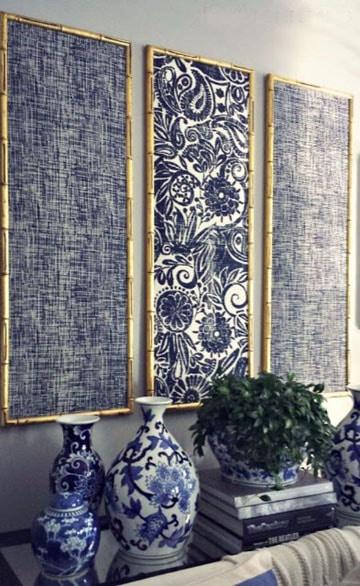 decoracion de paredes con tela con diseños
