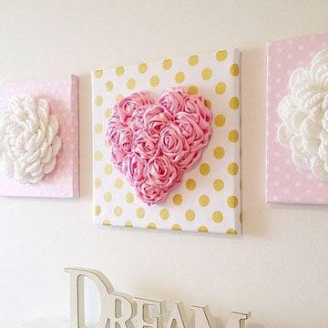 decoracion de paredes con tela cuadros