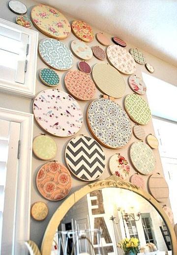 decoracion de paredes con tela variada