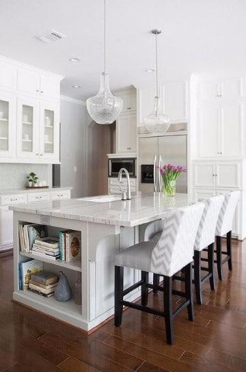 diseños de cocinas con islas minimalista