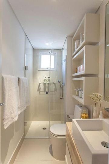 diseños para baños pequeños almacenamiento