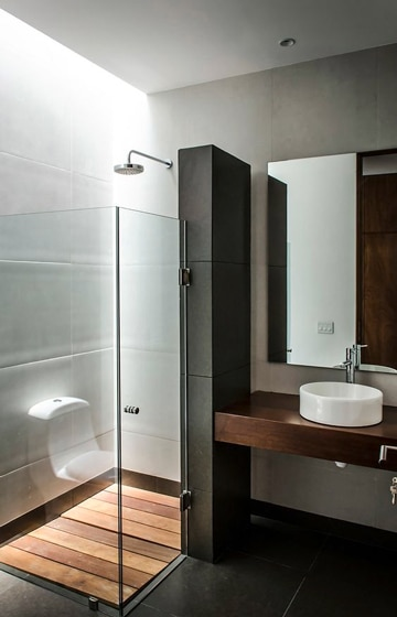 diseños para baños pequeños sobrio