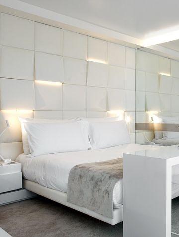 habitaciones decoradas modernas en blanco
