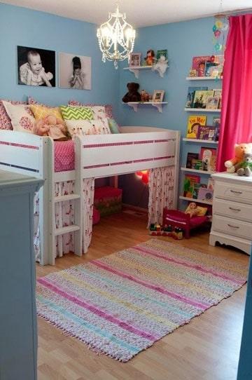 habitaciones juveniles para niñas sencilla