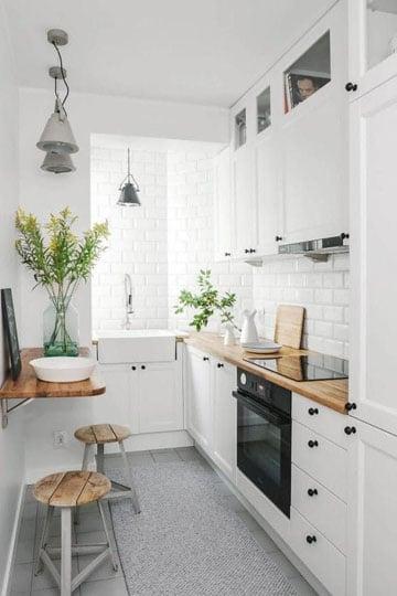 ideas para cocinas pequeñas modernas tipo pasillo