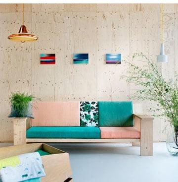 sofas para salas pequeñas retro