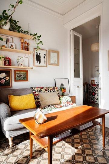 sofas para salas pequeñas vintage