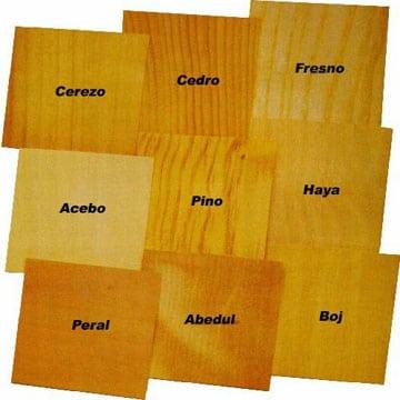 tipos de tableros de madera tonos