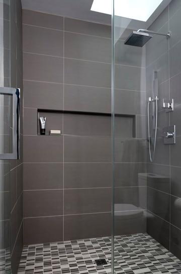 baños modernos con ducha negro