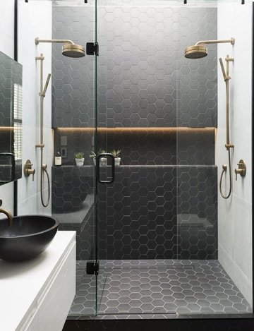 baños modernos con ducha para parejas