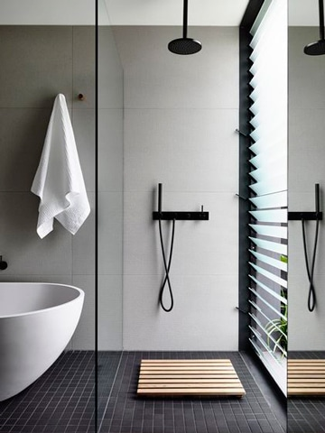 baños modernos con ducha pequeño