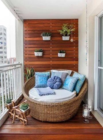 balcones pequeños decorados de madera