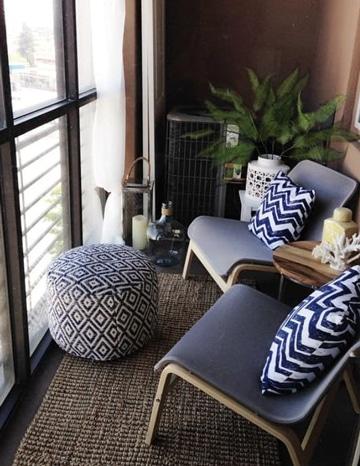 balcones pequeños decorados elegantes