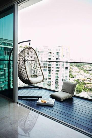 balcones pequeños decorados minimalista