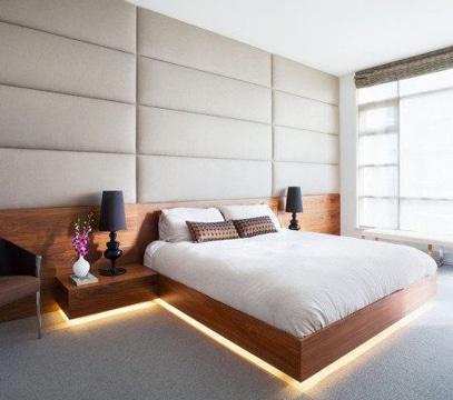 cabeceros de cama modernos con luces