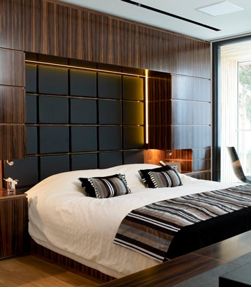 cabeceros de cama modernos en madera