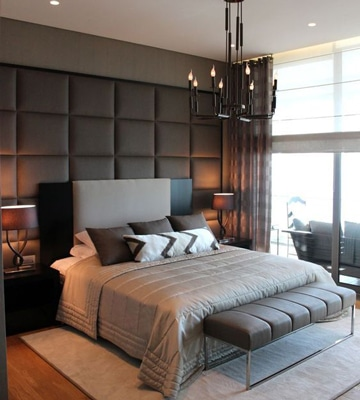 cabeceros de cama modernos tapizados