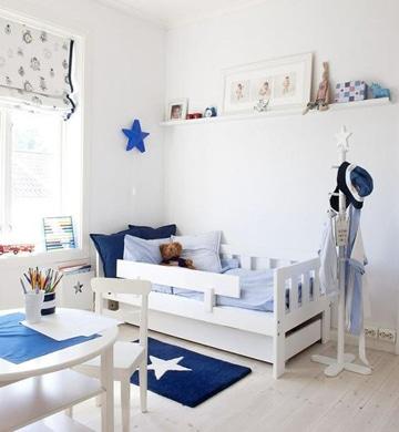 camas bajas para niños con barandilla