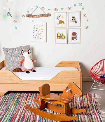 camas bajas para niños en madera