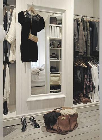 closets modernos para mujeres con espejo