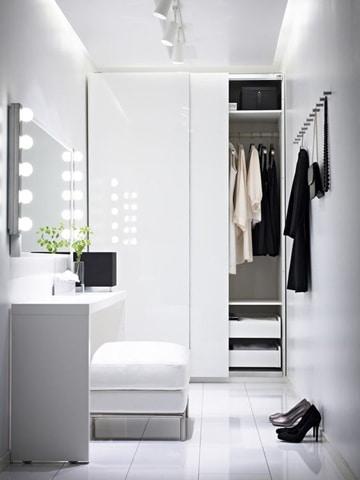 closets modernos para mujeres minimalista