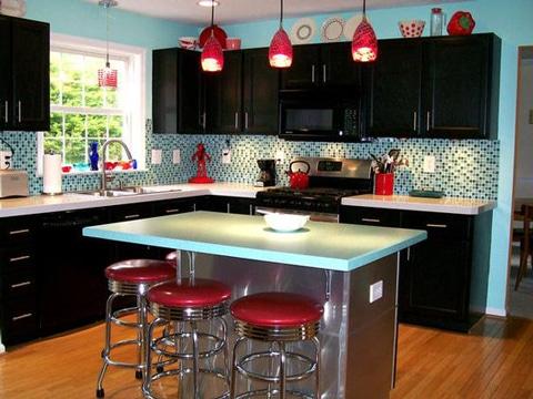 colores para cocinas modernas con isla