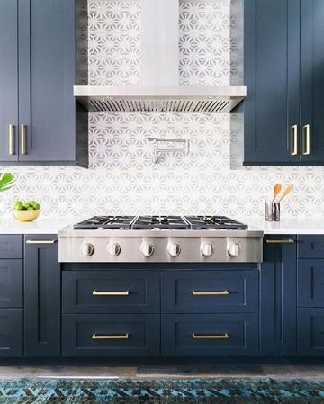 colores para cocinas modernas naval