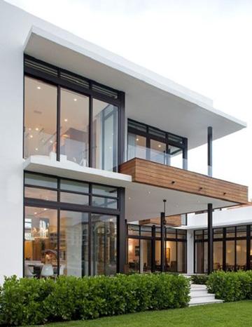 diseños de balcones para casas madera