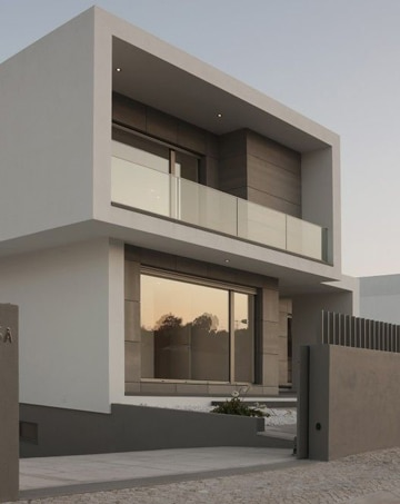 Casas de vidrio la del vidrio fachada de una casa con for Casa minimalista cristal