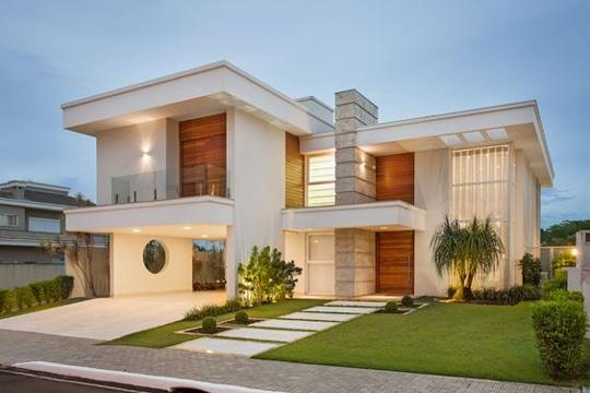 diseños de entradas de casas con jardin