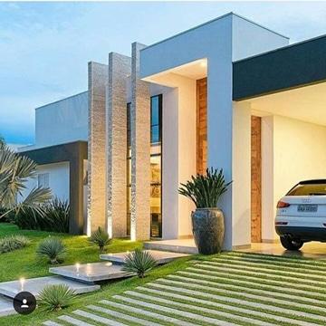 diseños de entradas de casas moderna