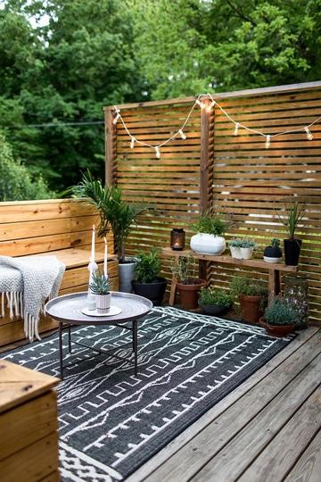 diseños de terrazas pequeñas con madera