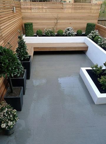 diseños de terrazas pequeñas minimalista