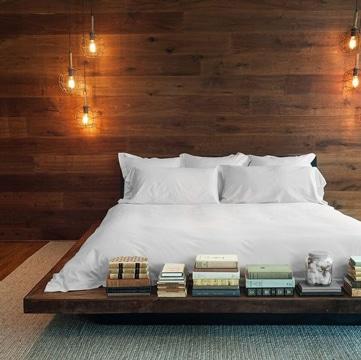 imagenes de camas de madera minimalista