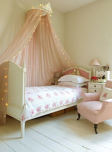 imagenes de camas para niñas con tul