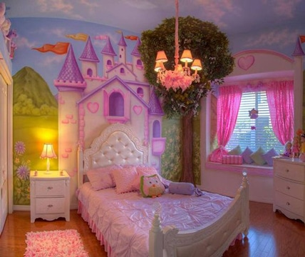 imagenes de camas para niñas de princesa