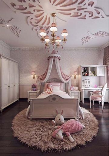 imagenes de camas para niñas elegante
