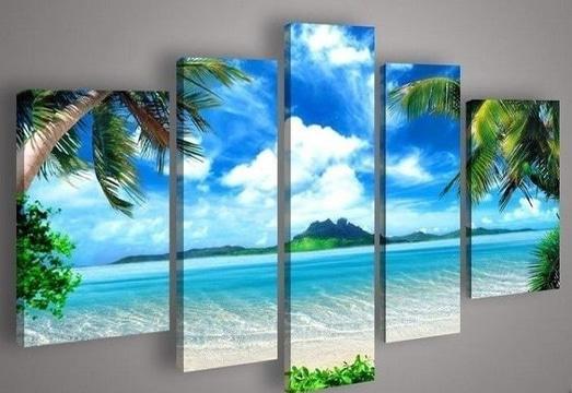 imagenes de cuadros para sala de playa