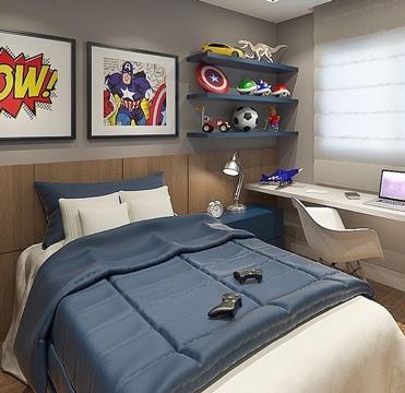 imagenes de recamaras para niños super heroes