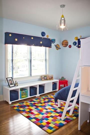 lamparas de techo infantiles cohete